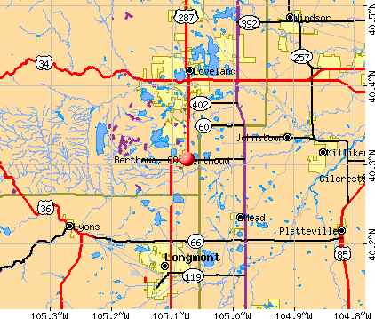 Berthoud, CO map