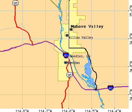 Needles, CA map