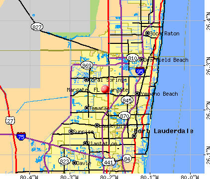 Margate, FL map