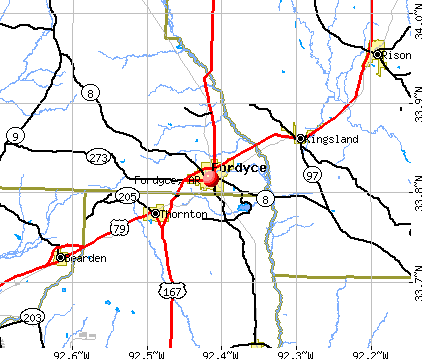 Fordyce, AR map