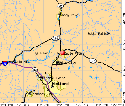 Eagle Point, OR map
