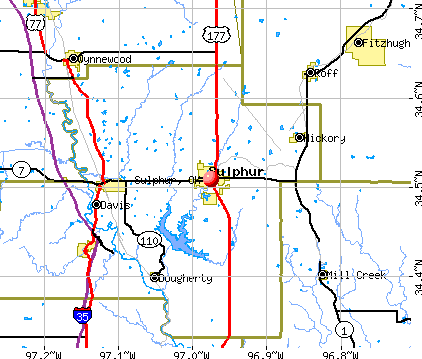Sulphur, OK map