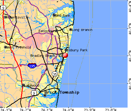 Bradley Beach, NJ map