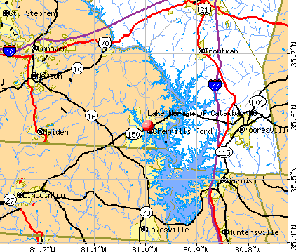 Lake Norman of Catawba, NC map