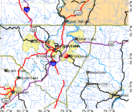 Brookhaven, WV map