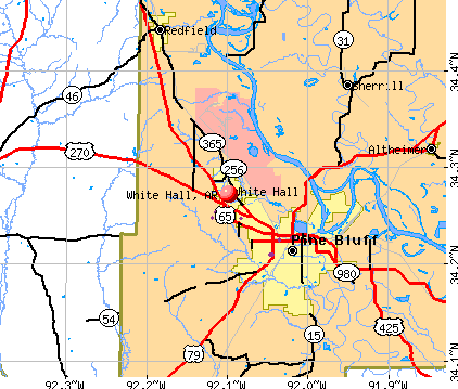 White Hall, AR map