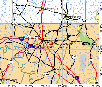 Robinwood, MD map