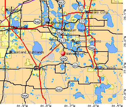 Wahneta, FL map