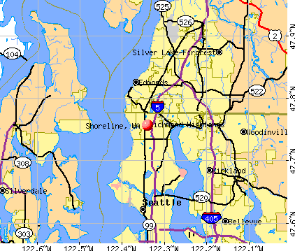 Shoreline, WA map