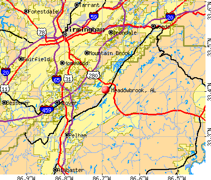 Meadowbrook, AL map