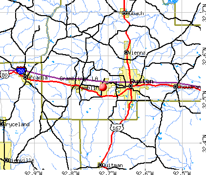 Grambling, LA map