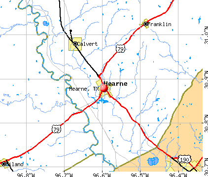 Hearne, TX map