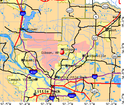 Gibson, AR map
