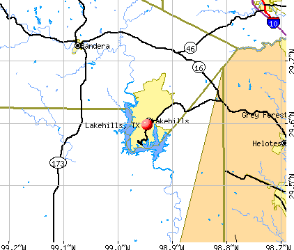 Lakehills, TX map