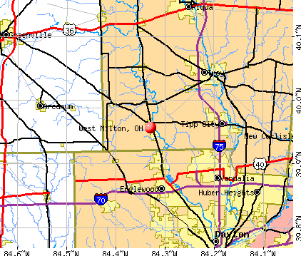 West Milton, OH map