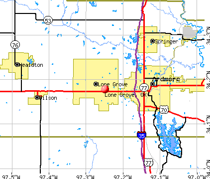 Lone Grove, OK map