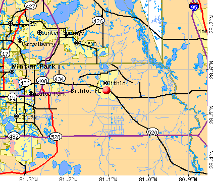 Bithlo, FL map