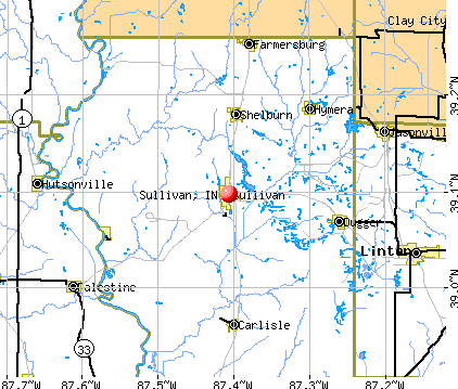 Sullivan, IN map