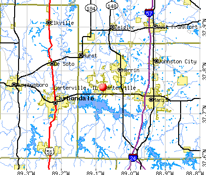 Carterville, IL map