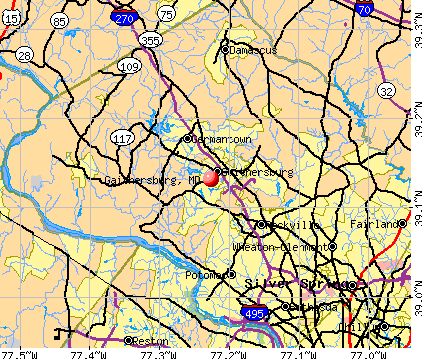 Gaithersburg, MD map