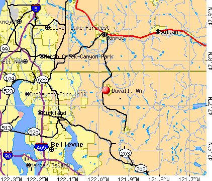 Duvall, WA map