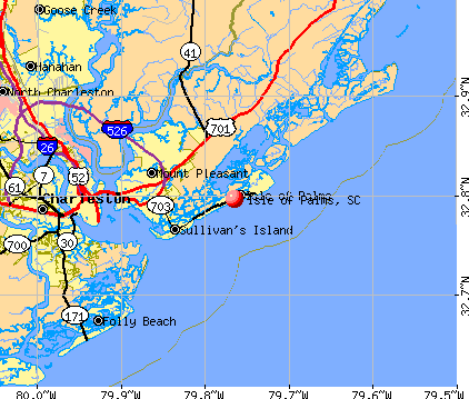 Isle of Palms, SC map