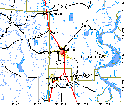 McGehee, AR map