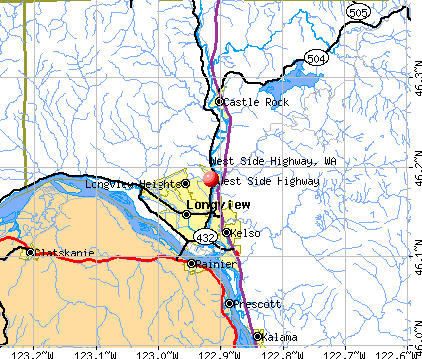 West Side Highway, WA map