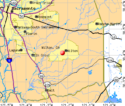 Wilton, CA map