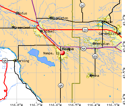 Nampa, ID map