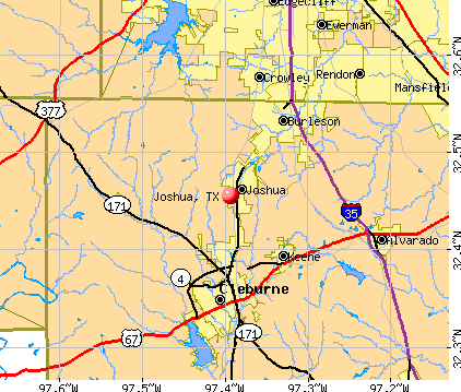 Joshua, TX map