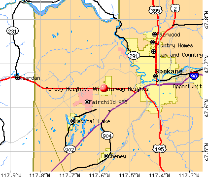 Airway Heights, WA map