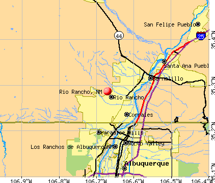 Rio Rancho, NM map