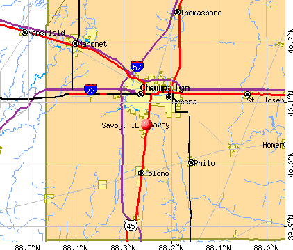 Savoy, IL map