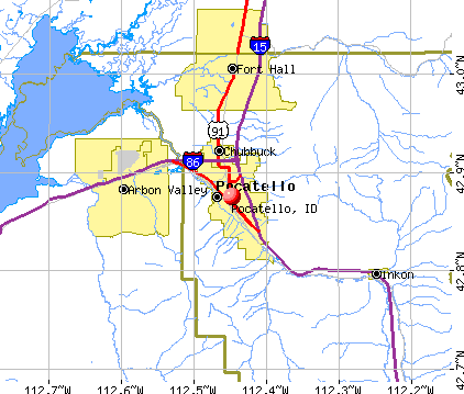 Pocatello, ID map