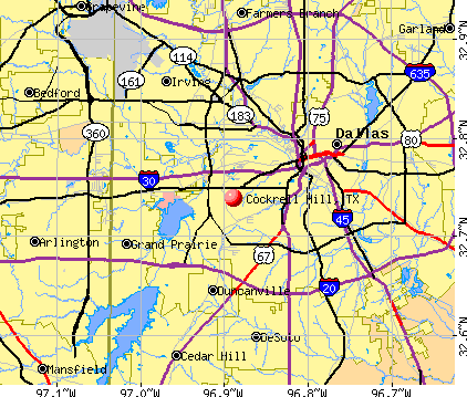 Cockrell Hill, TX map