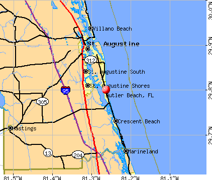 Butler Beach, FL map