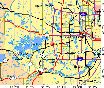 Minnetonka, MN map