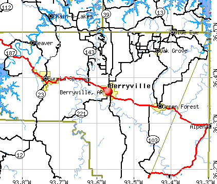 Berryville, AR map