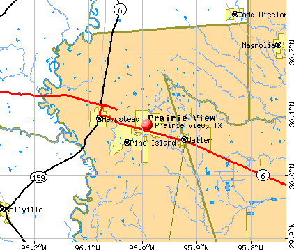 Prairie View, TX map