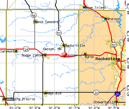Kasson, MN map