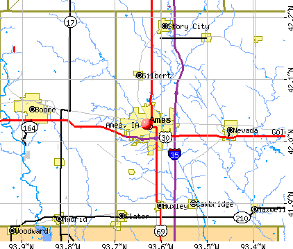 Ames, IA map