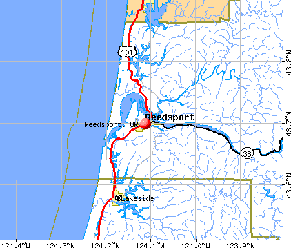 Reedsport, OR map