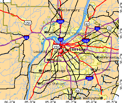 Louisville, KY map
