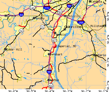 Imperial, MO map