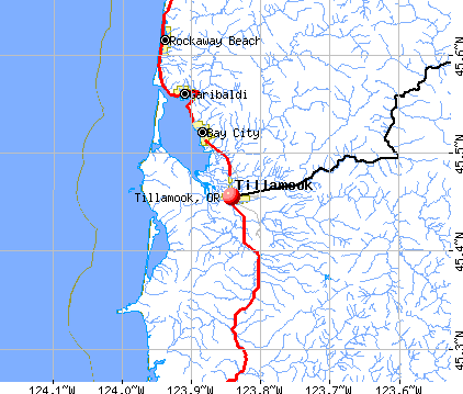 Tillamook, OR map