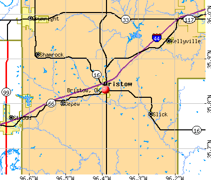 Bristow, OK map