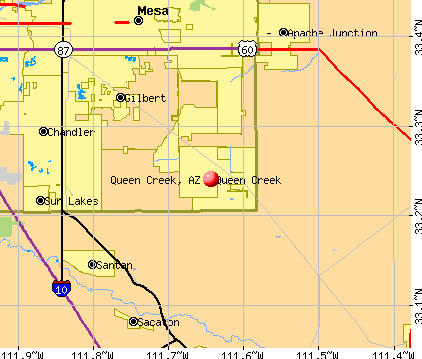 Queen Creek, AZ map
