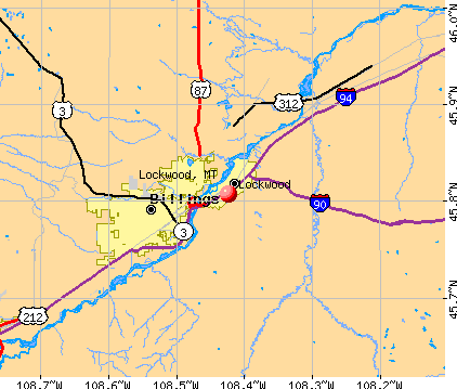 Lockwood, MT map