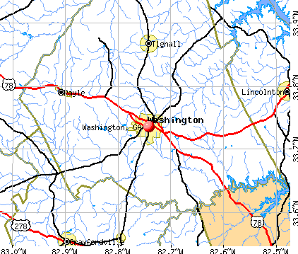 Washington, GA map